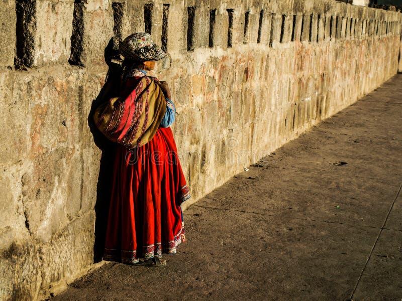 Γυναίκα Peruan στοκ εικόνες