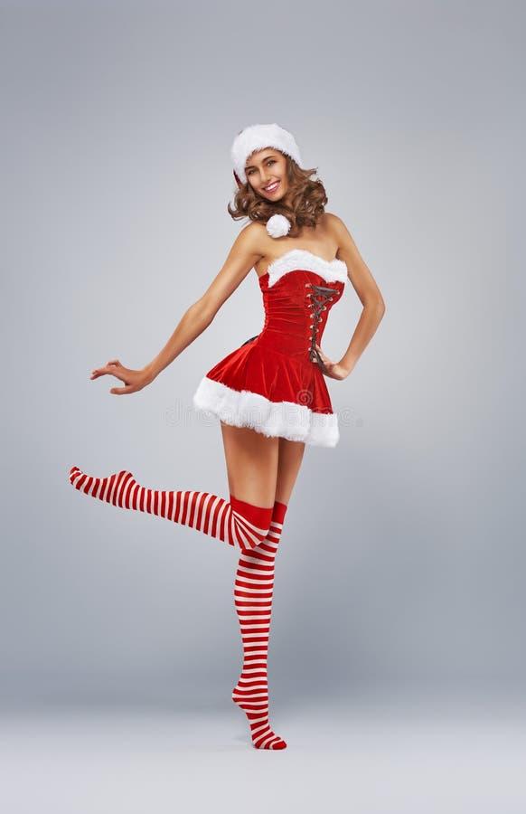 γυναίκα santa ενδυμάτων Claus στοκ φωτογραφία με δικαίωμα ελεύθερης χρήσης