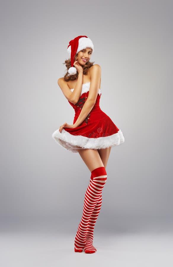 γυναίκα santa ενδυμάτων Claus στοκ εικόνες