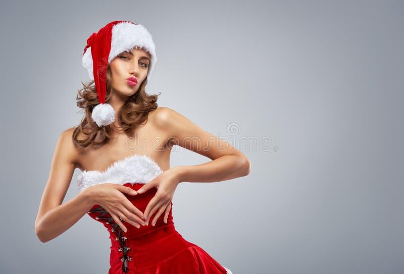 γυναίκα santa ενδυμάτων Claus στοκ φωτογραφίες με δικαίωμα ελεύθερης χρήσης