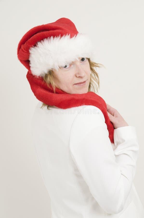 γυναίκα santa καπέλων Claus στοκ εικόνες με δικαίωμα ελεύθερης χρήσης