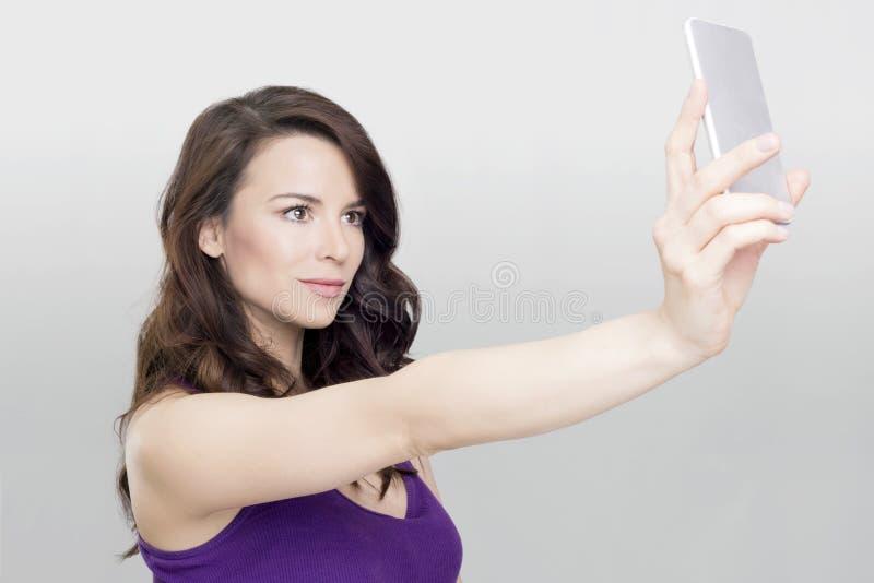 Γυναίκα Selfie στοκ φωτογραφίες
