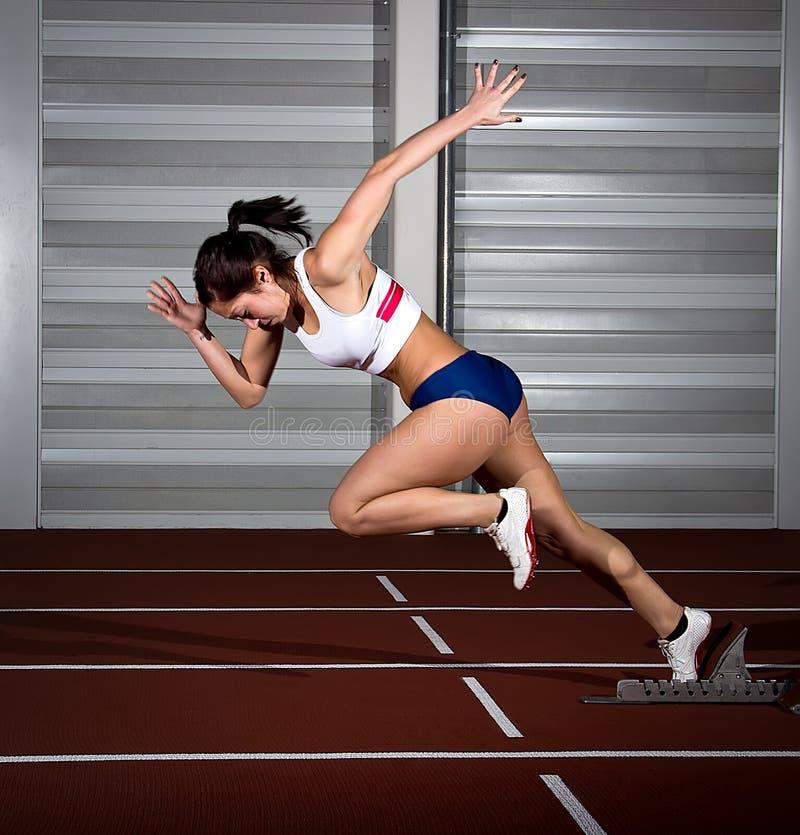 Γυναίκα Sprinter στοκ φωτογραφία