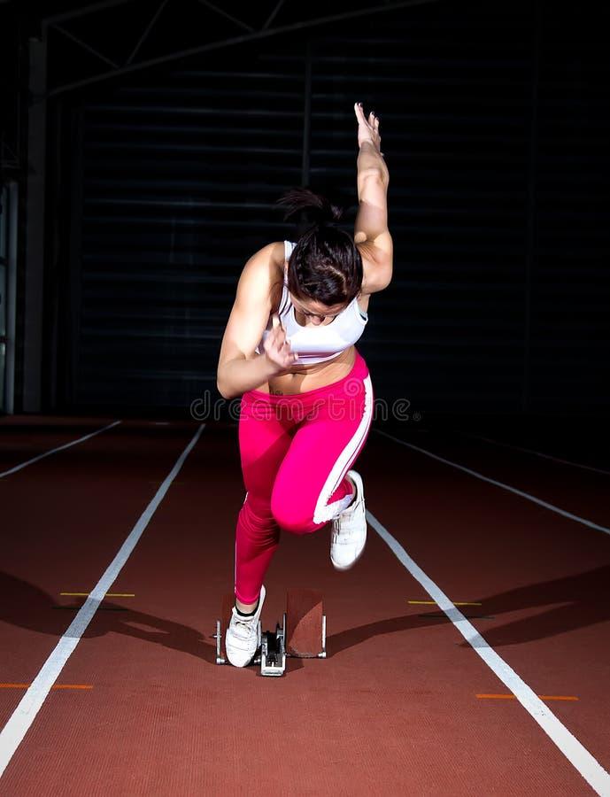 Γυναίκα Sprinter στοκ φωτογραφίες με δικαίωμα ελεύθερης χρήσης