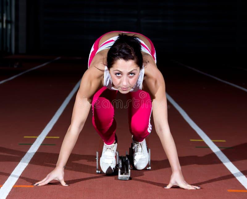 Γυναίκα Sprinter στοκ εικόνες με δικαίωμα ελεύθερης χρήσης