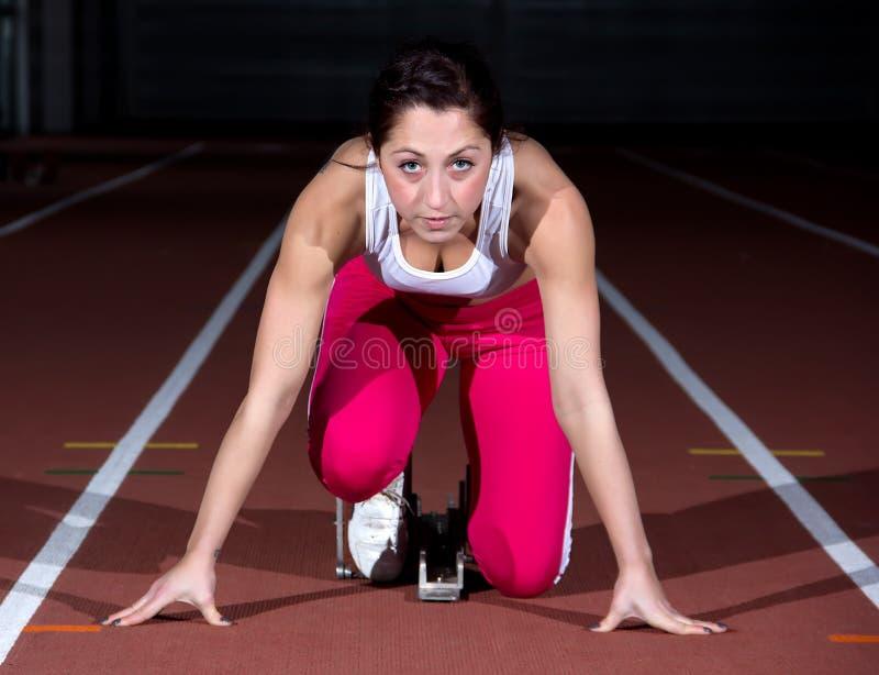 Γυναίκα Sprinter στοκ εικόνες