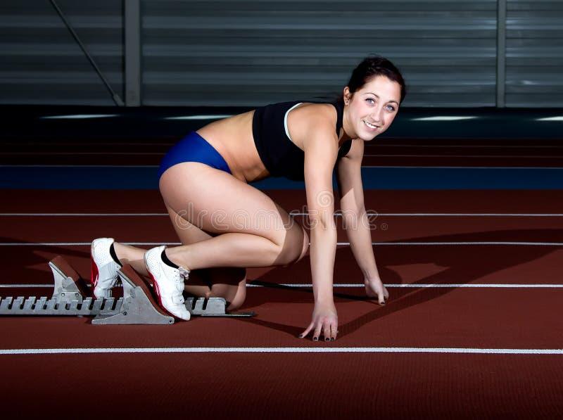 Γυναίκα Sprinter στοκ φωτογραφίες