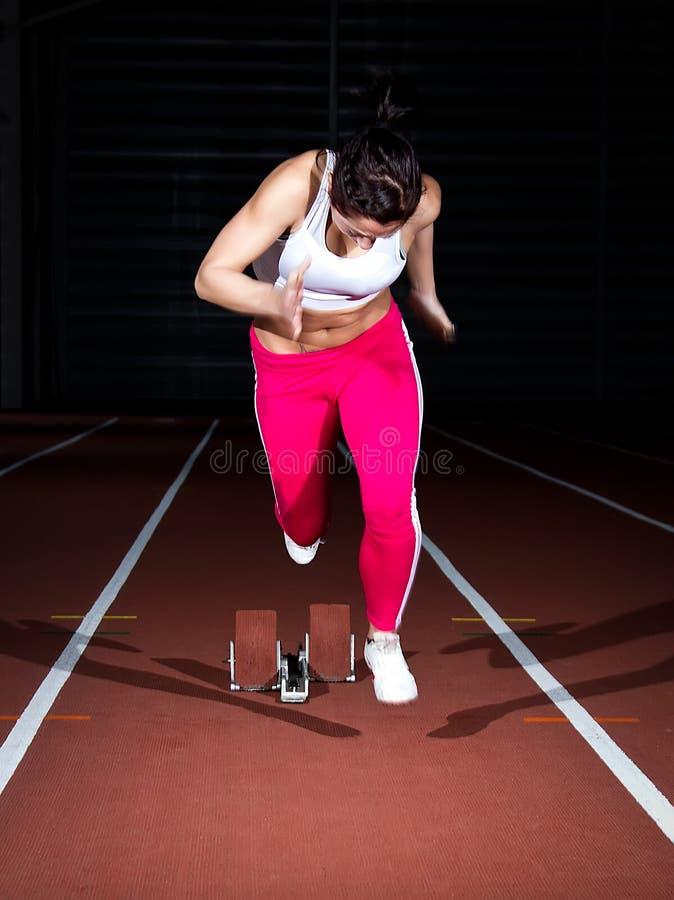 Γυναίκα Sprinter στοκ εικόνα με δικαίωμα ελεύθερης χρήσης