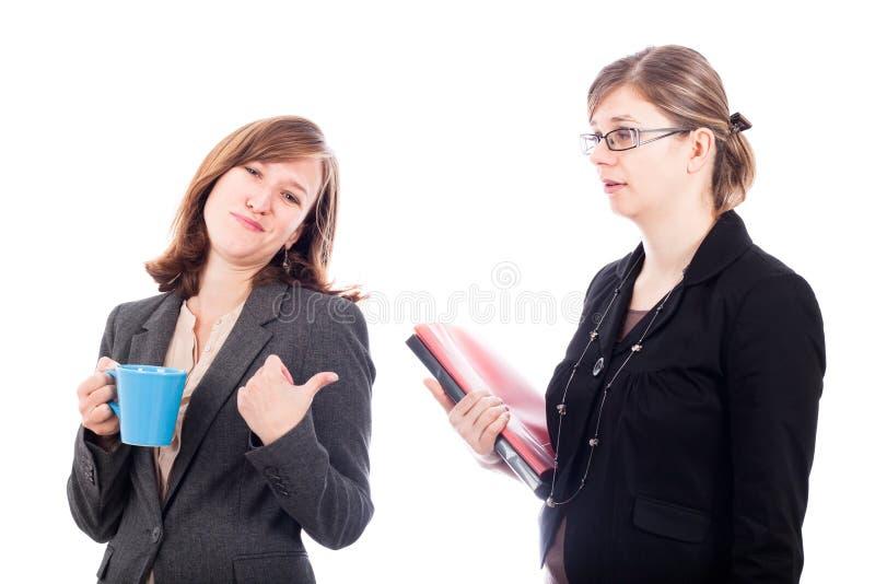 γυναίκες ανταγωνισμού επιχειρησιακών συναδέλφων στοκ εικόνες
