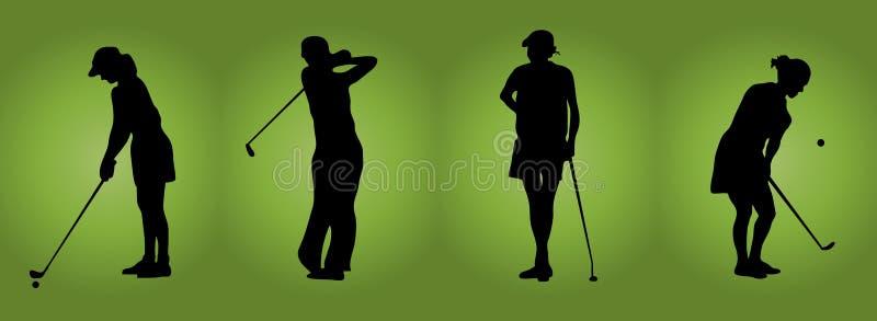 γυναίκες γκολφ διανυσματική απεικόνιση