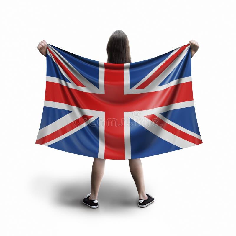 Γυναίκες και βρετανική σημαία διανυσματική απεικόνιση