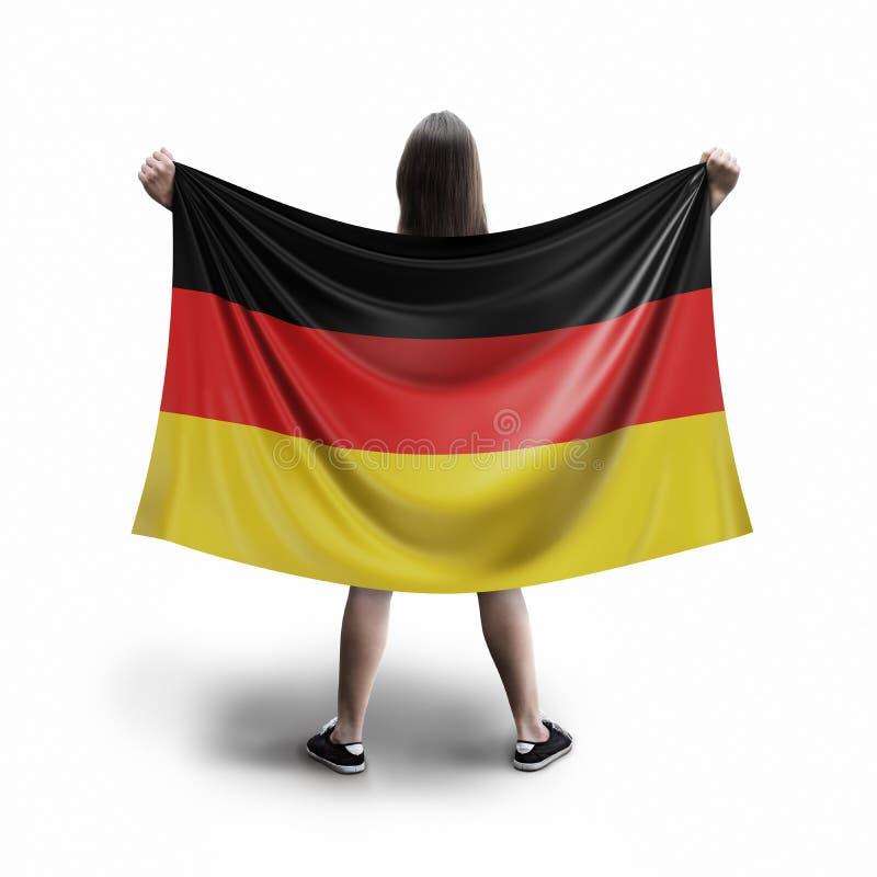 Γυναίκες και γερμανική σημαία ελεύθερη απεικόνιση δικαιώματος