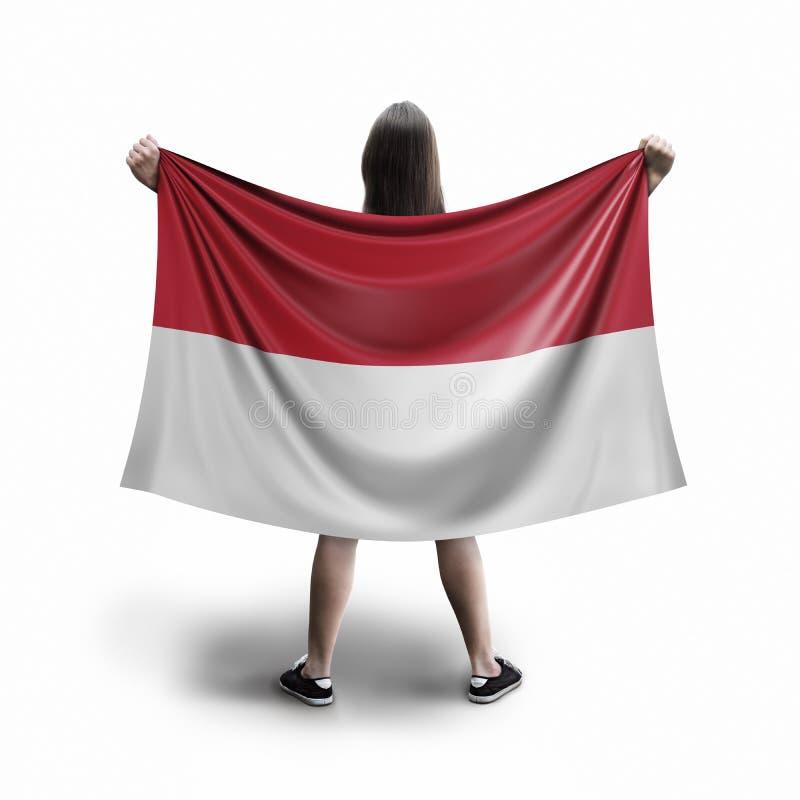 Γυναίκες και ινδονησιακή σημαία ελεύθερη απεικόνιση δικαιώματος