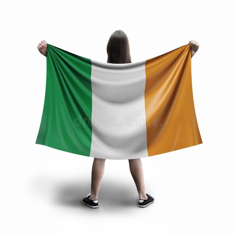Γυναίκες και ιρλανδική σημαία ελεύθερη απεικόνιση δικαιώματος