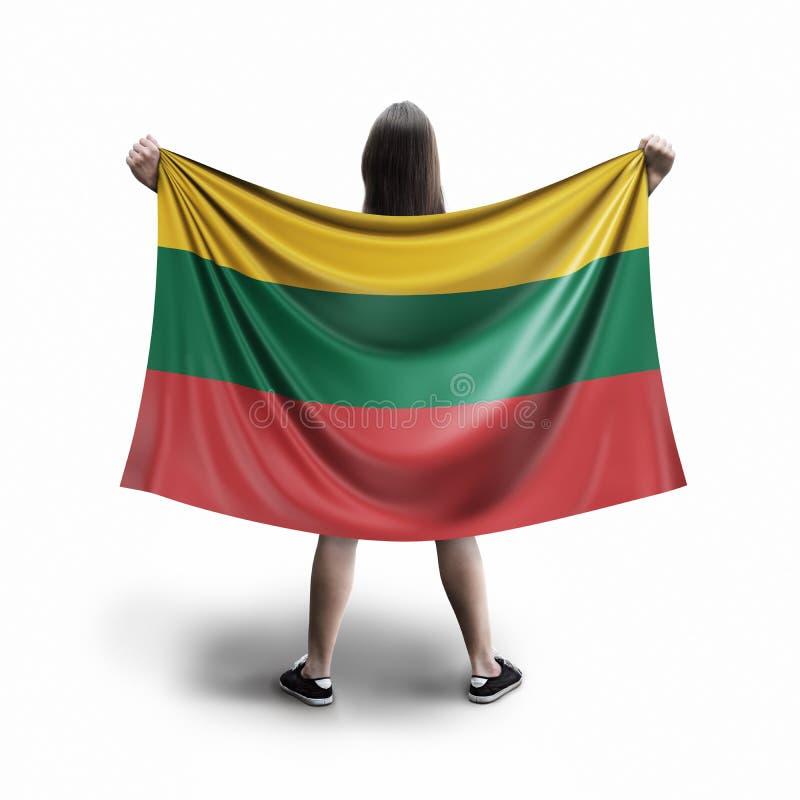Γυναίκες και λιθουανική σημαία απεικόνιση αποθεμάτων