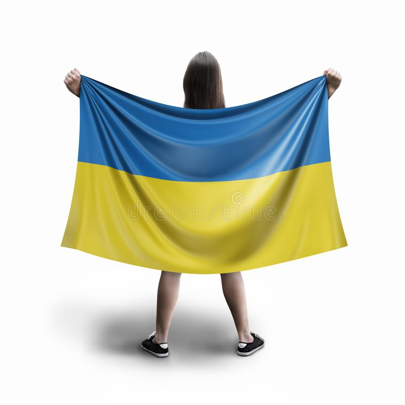 Γυναίκες και ουκρανική σημαία ελεύθερη απεικόνιση δικαιώματος