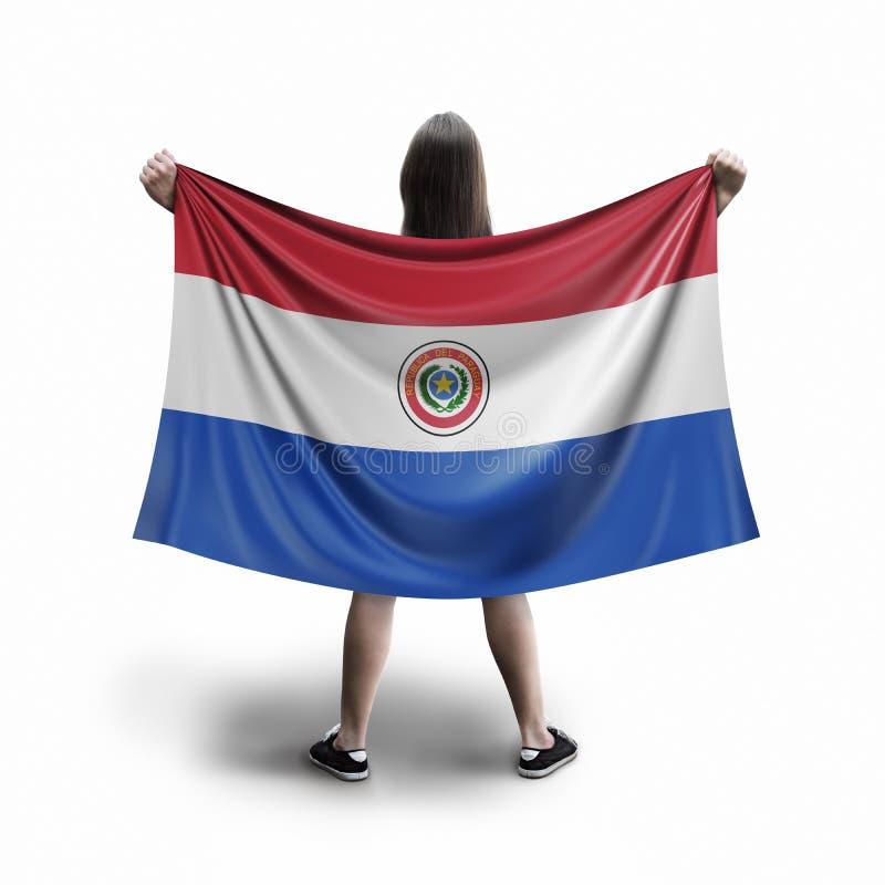 Γυναίκες και παραγουανή σημαία απεικόνιση αποθεμάτων