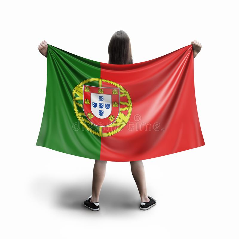 Γυναίκες και πορτογαλική σημαία διανυσματική απεικόνιση