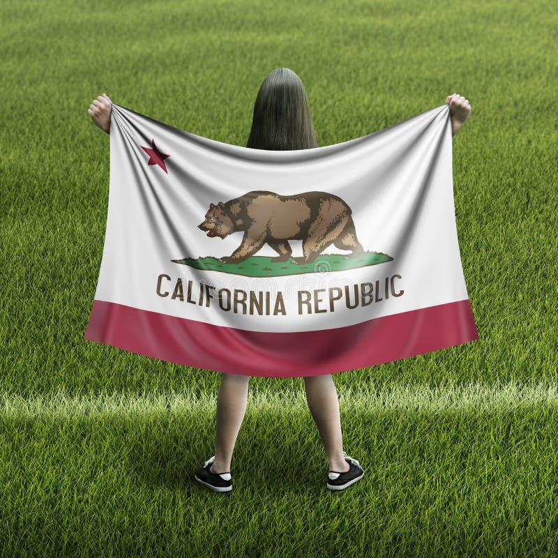 Γυναίκες και σημαία Καλιφόρνιας απεικόνιση αποθεμάτων