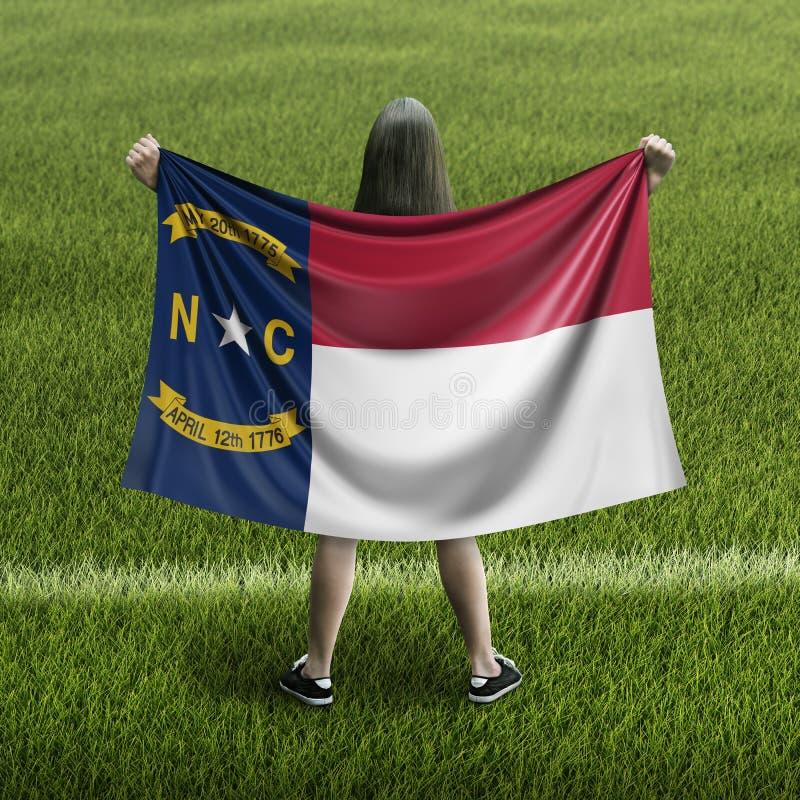 Γυναίκες και σημαία της βόρειας Καρολίνας ελεύθερη απεικόνιση δικαιώματος