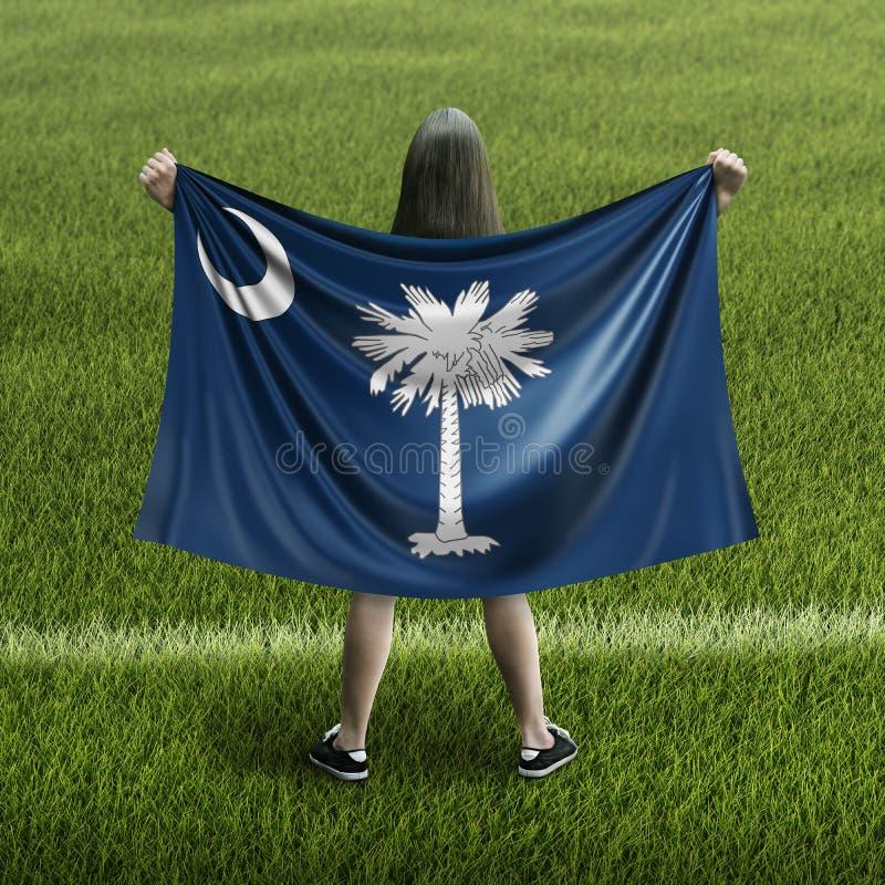 Γυναίκες και σημαία της νότιας Καρολίνας ελεύθερη απεικόνιση δικαιώματος