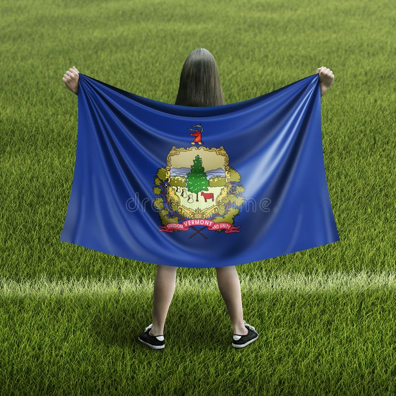 Γυναίκες και σημαία του Βερμόντ ελεύθερη απεικόνιση δικαιώματος