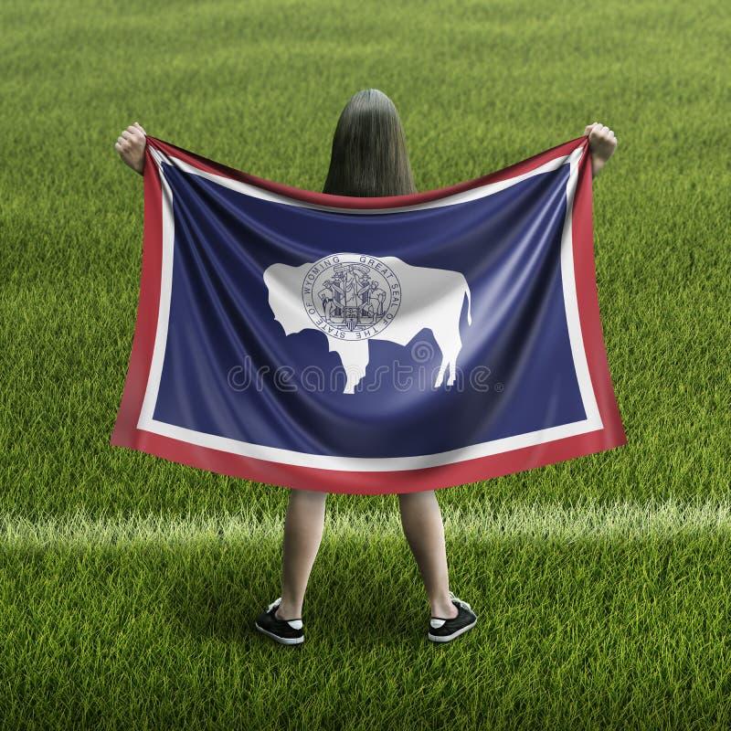 Γυναίκες και σημαία του Ουαϊόμινγκ ελεύθερη απεικόνιση δικαιώματος