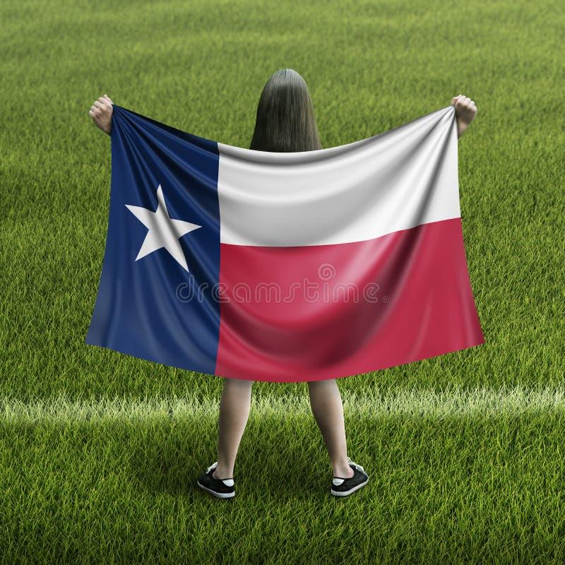 Γυναίκες και σημαία του Τέξας διανυσματική απεικόνιση