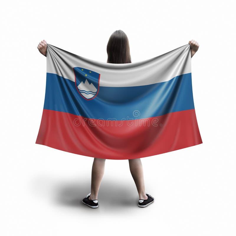 Γυναίκες και σημαία Sloven ελεύθερη απεικόνιση δικαιώματος