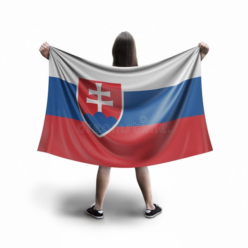 Γυναίκες και σλοβάκικη σημαία ελεύθερη απεικόνιση δικαιώματος