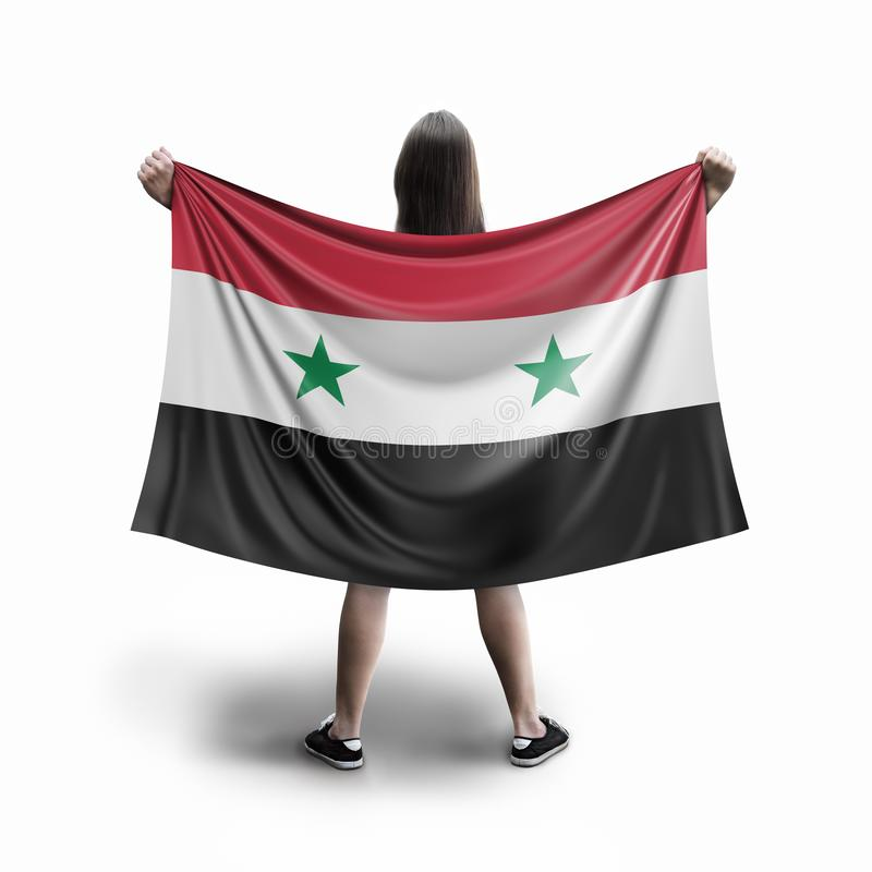 Γυναίκες και συριακή σημαία ελεύθερη απεικόνιση δικαιώματος