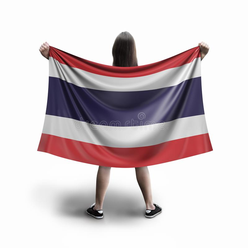 Γυναίκες και ταϊλανδική σημαία ελεύθερη απεικόνιση δικαιώματος