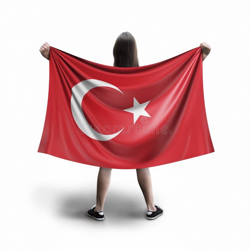 Γυναίκες και τουρκική σημαία ελεύθερη απεικόνιση δικαιώματος