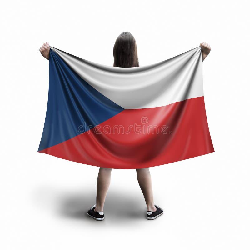 Γυναίκες και τσεχική σημαία ελεύθερη απεικόνιση δικαιώματος
