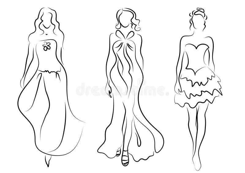 γυναίκες μόδας απεικόνιση αποθεμάτων
