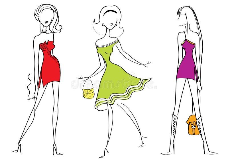 γυναίκες μόδας διανυσματική απεικόνιση