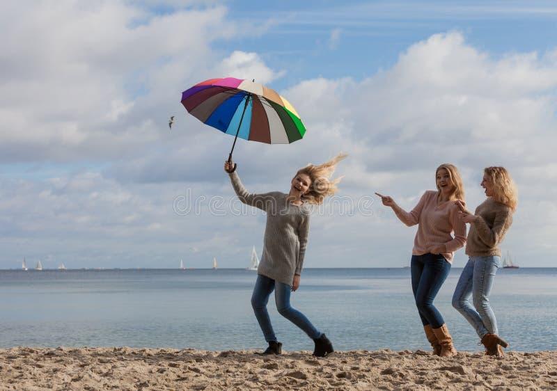 Γυναίκες που κάνουν τη διασκέδαση του πηδώντας φίλου στοκ εικόνες