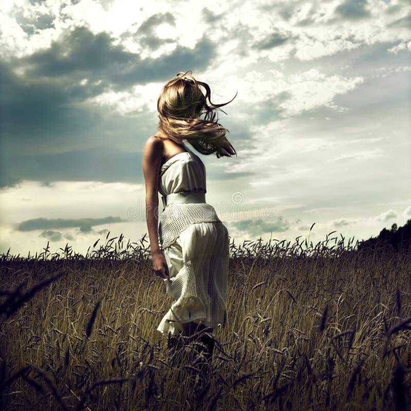 γυναίκες σίτου άλματος &p στοκ φωτογραφία με δικαίωμα ελεύθερης χρήσης