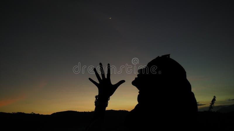 Γυναίκες στον ουρανό στοκ φωτογραφίες με δικαίωμα ελεύθερης χρήσης
