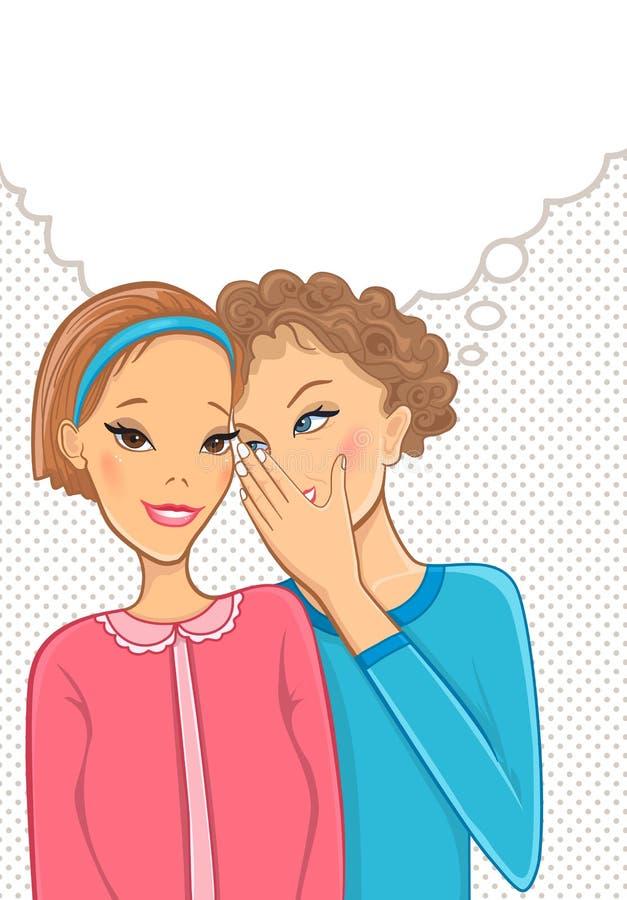 γυναίκες συζήτησης διανυσματική απεικόνιση