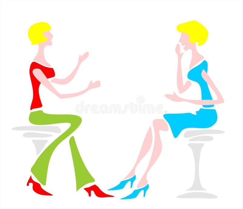 γυναίκες συζήτησης απεικόνιση αποθεμάτων