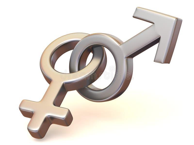 γυναίκες συμβόλων ανδρών & απεικόνιση αποθεμάτων