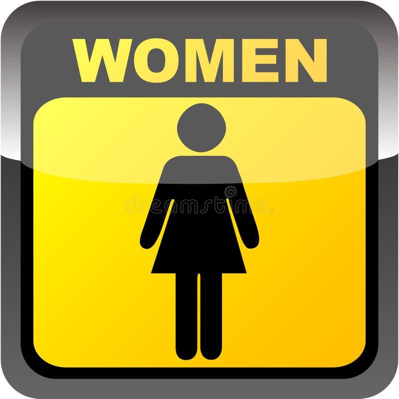 γυναίκες τουαλετών ετικετών ελεύθερη απεικόνιση δικαιώματος