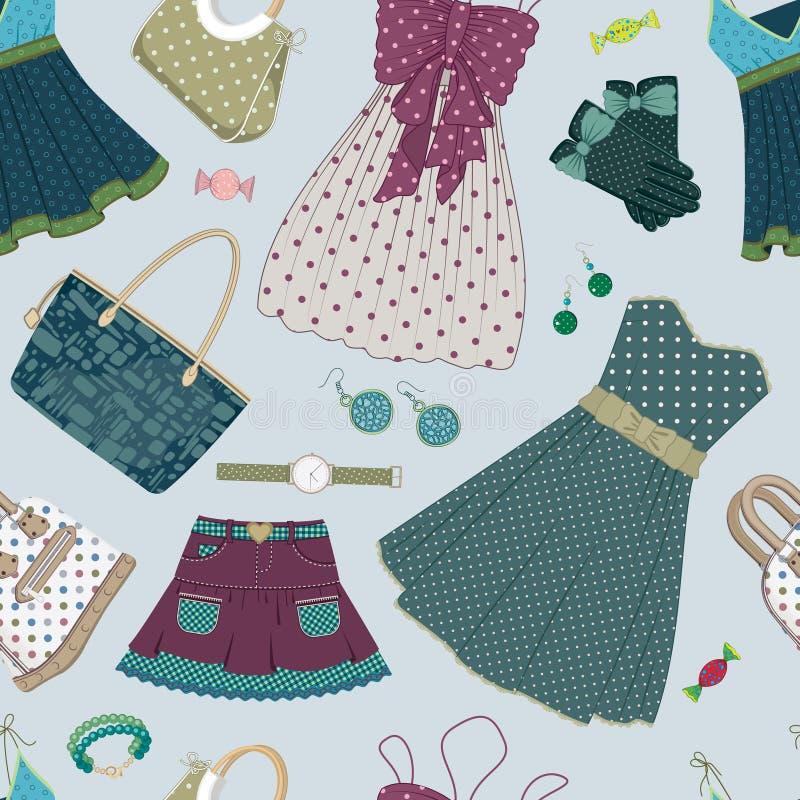 γυναίκες φορεμάτων s ανασκόπησης εξαρτημάτων απεικόνιση αποθεμάτων