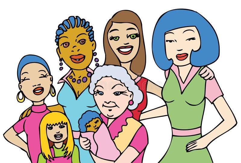 γυναίκες διανυσματική απεικόνιση