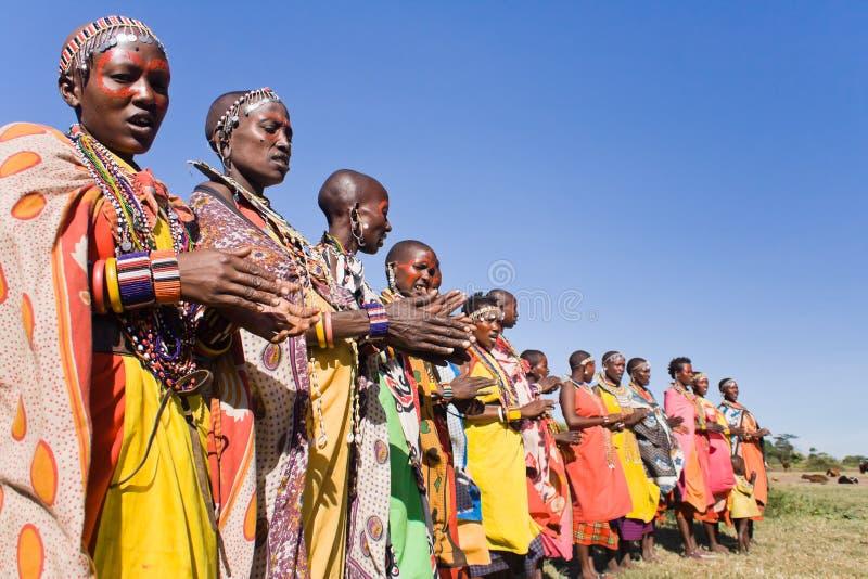 γυναίκες maasai στοκ φωτογραφίες