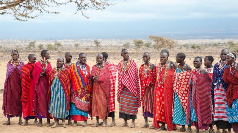Γυναίκες Masai του Amboseli στοκ φωτογραφία