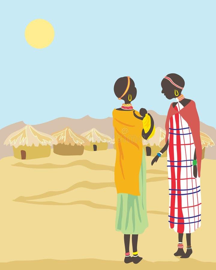 γυναίκες masai διανυσματική απεικόνιση
