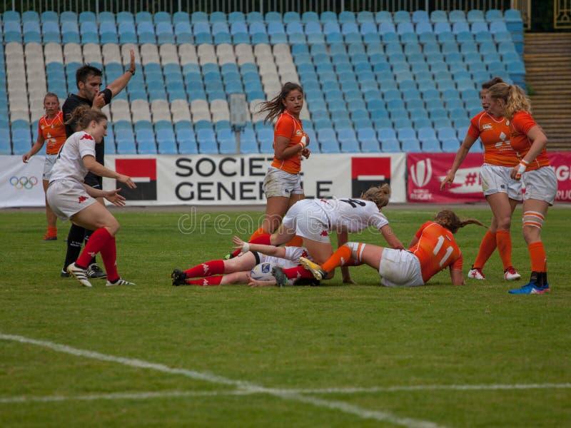 Γυναίκες Sevens της Ευρώπης ράγκμπι στοκ φωτογραφία με δικαίωμα ελεύθερης χρήσης