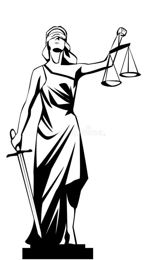 Γυναικεία δικαιοσύνη διανυσματική απεικόνιση